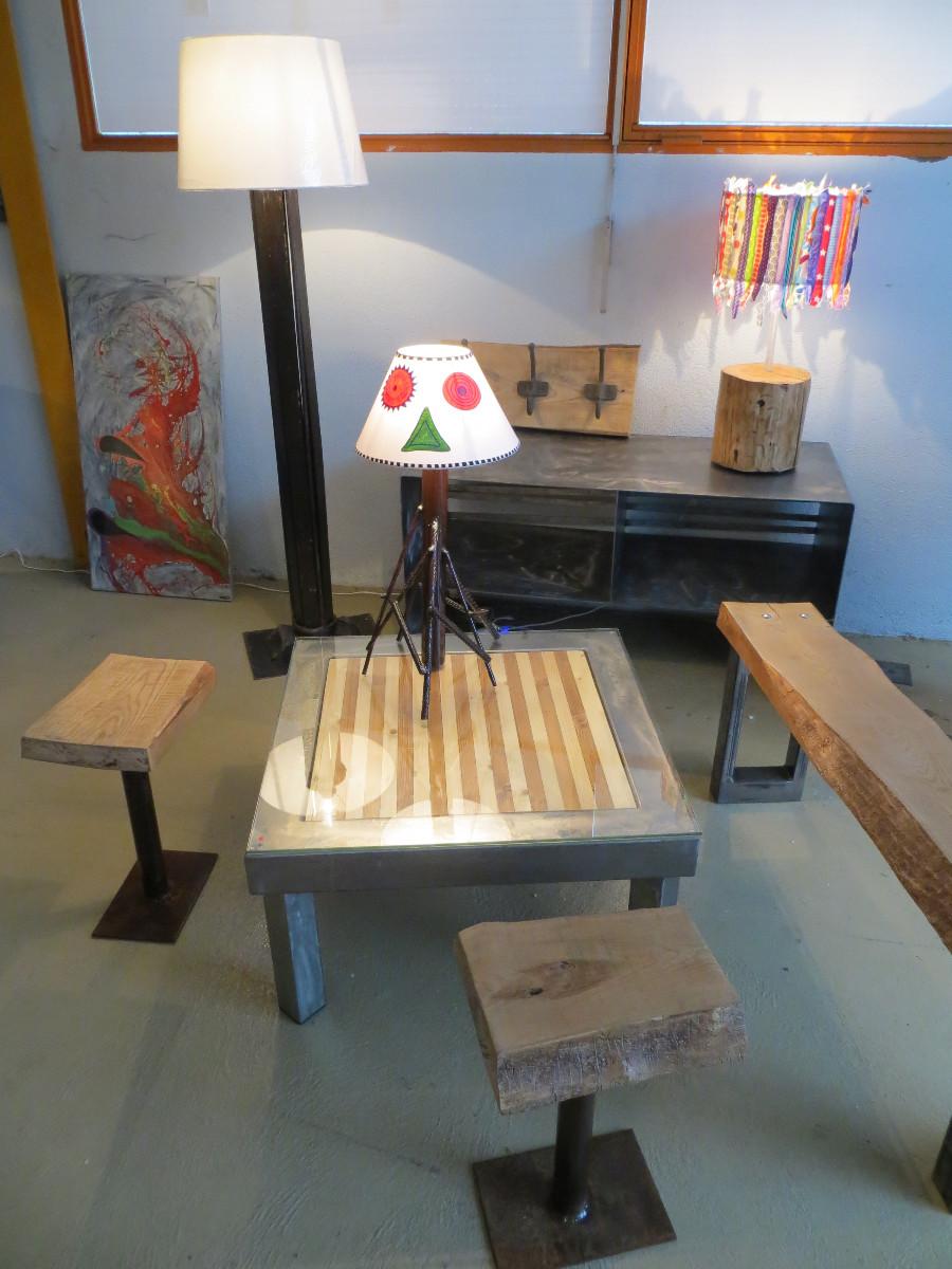 Table basse bois bicolore artacier for Table bois bicolore